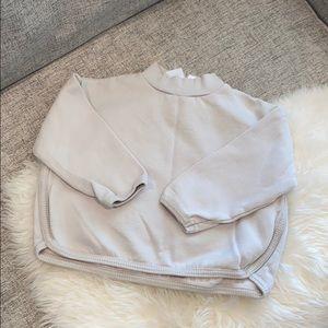 Zara mock neck sweatshirt sz 4-5 years